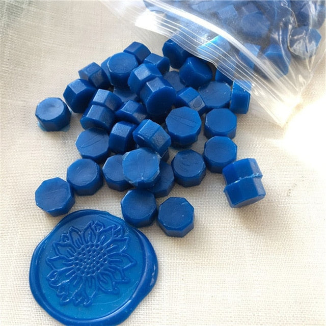 100Pcs/lot Vintage Handmade Octagon Stamp Wax Tablet Pill Beads for Envelope Wedding Invitation Stamping DIY Ancient Sealing Wax|Paper Envelopes
