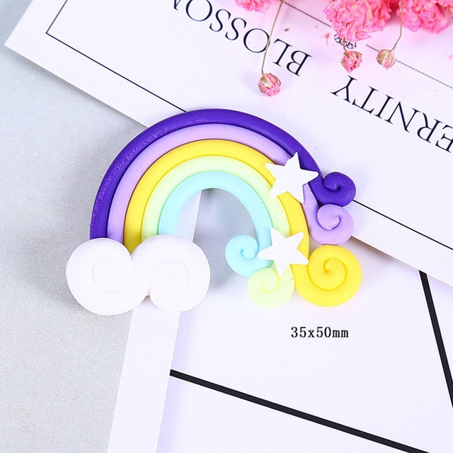 10pcs Resin Rainbow Crafts Accessories