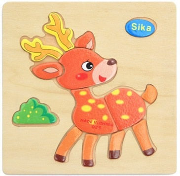 Baby Toys Wooden 3d Puzzle