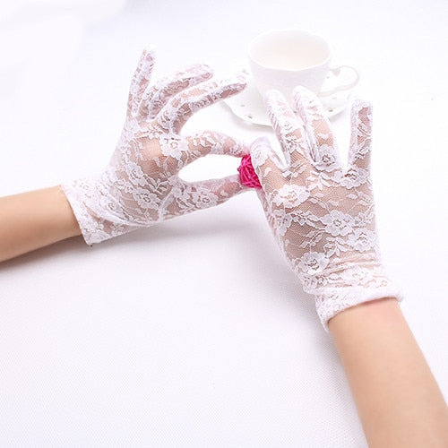 Sexy Dressy Gloves Women Lady Lace Mittens Accessories