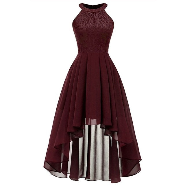 Front short long back halter Bow Dresses