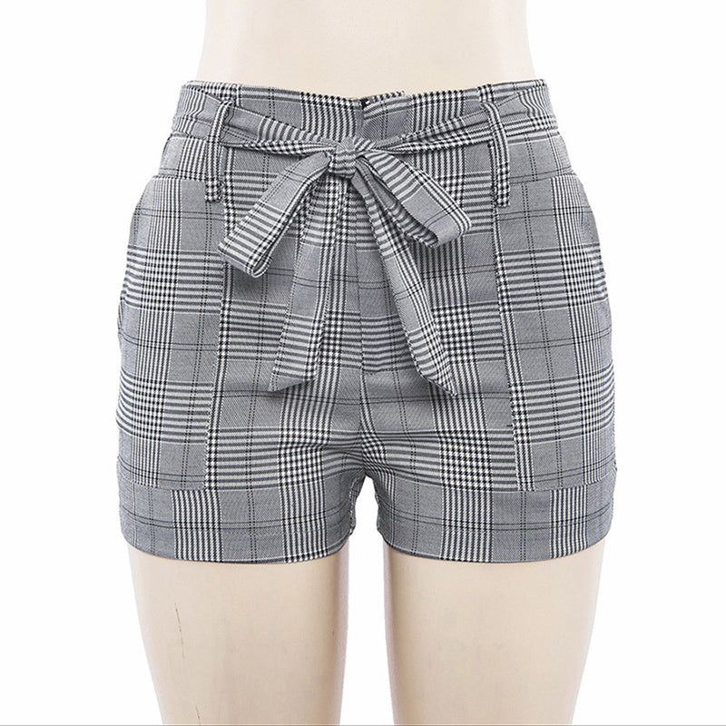 Stripe Pocket Loose high waist shorts