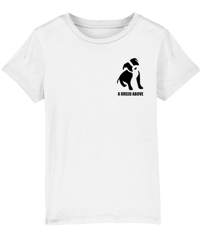 Staffi Kids Tee - White & Black