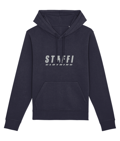 Navy Staffi Hoody with Grey Staffi Clothing Logo