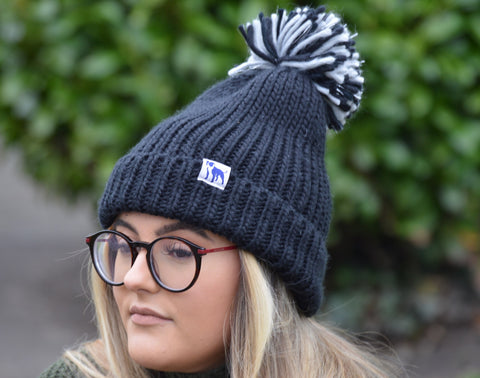 Staffi Two Tone Pom Pom Beanie Hat