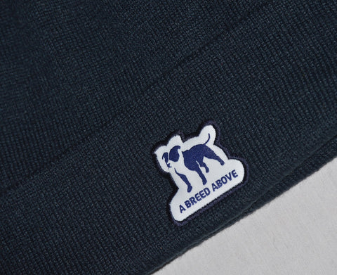 A Breed Above Blue Pom Pom Beanie