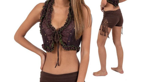 Festival clothing crop top