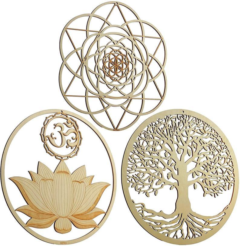 "13.5"" Sacred Geometry 3 piece Set - Trancentral Shop"