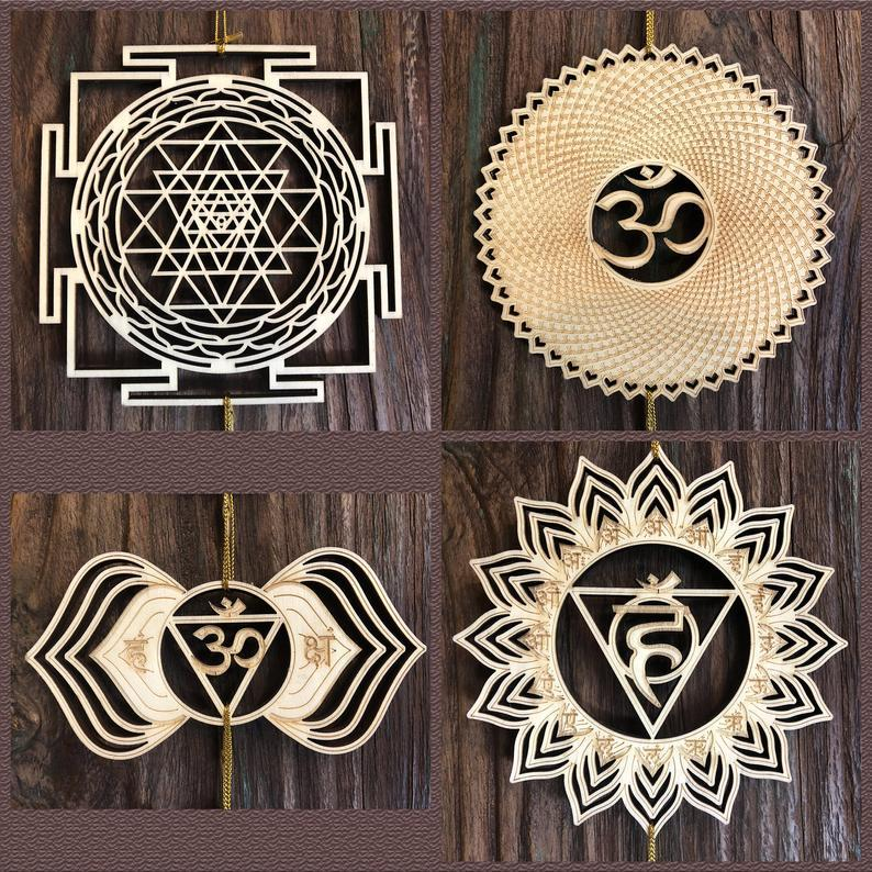 "5.31"" 7 Chakras & Sri Yantra Set - Trancentral Shop"