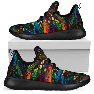 Psychedelic Mesh Knit Rave Sneakers - Trancentral Shop