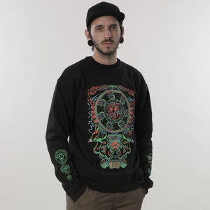 ALIEN ENGINE – UV reactive sweatshirt - Trancentral Shop