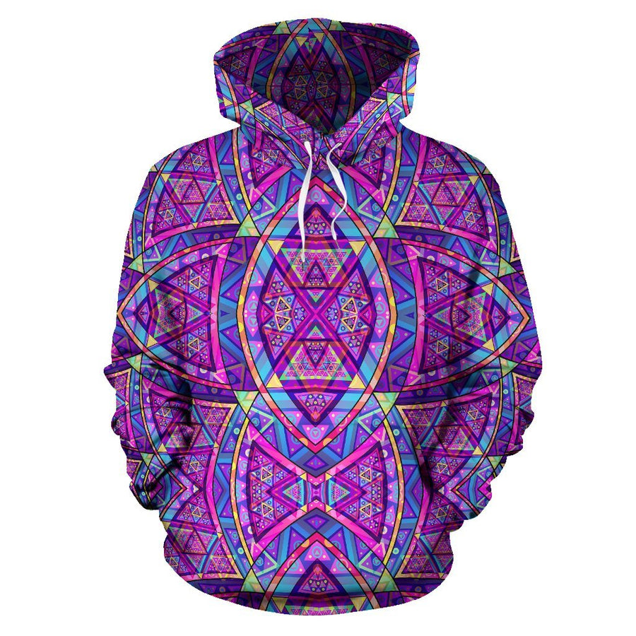 A.V Purple Fractal Hoodie - Trancentral Shop