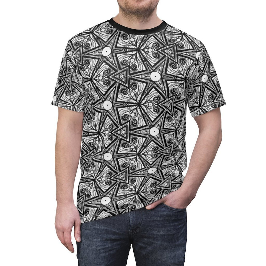 Black & White pattern Unisex Tee - Trancentral Shop