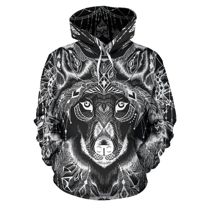 Boho Wolf Hoodie - Trancentral Shop