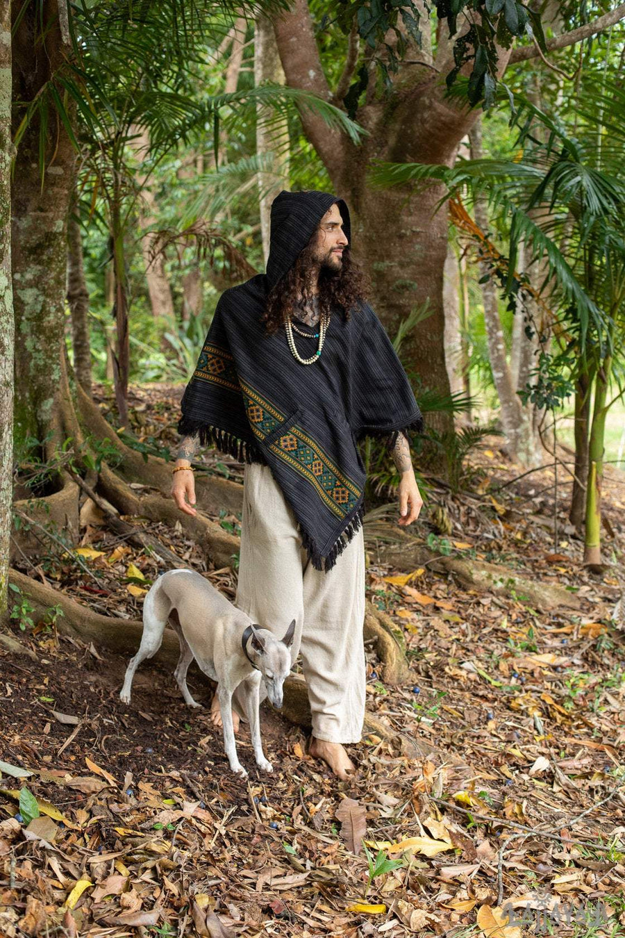 Cashmere Yak Wool Hooded Poncho - Trancentral Shop