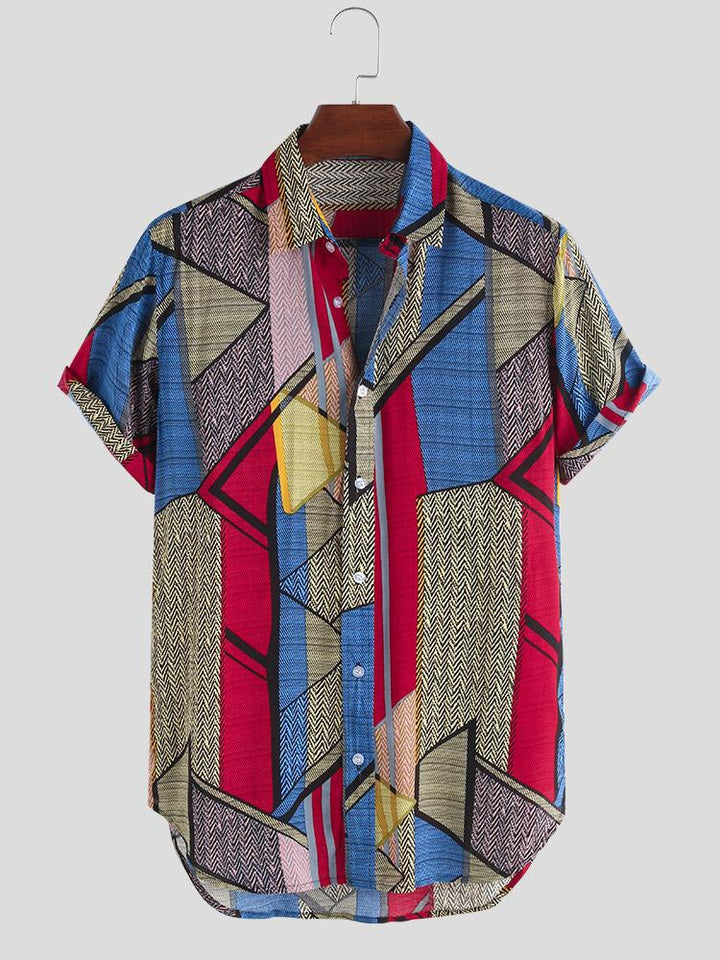 Color Geometry Casual Shirt - Trancentral Shop