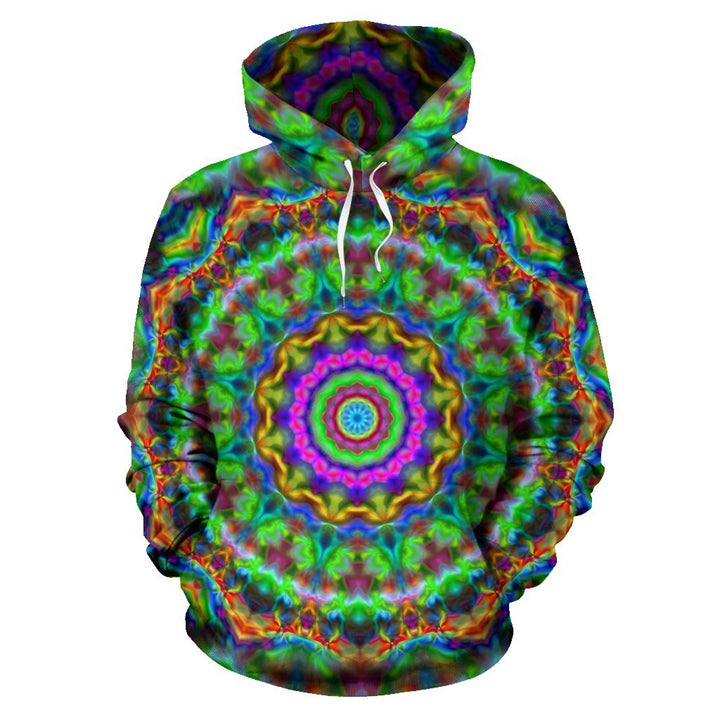 Colorful Mandala 2 Hoodie - Trancentral Shop