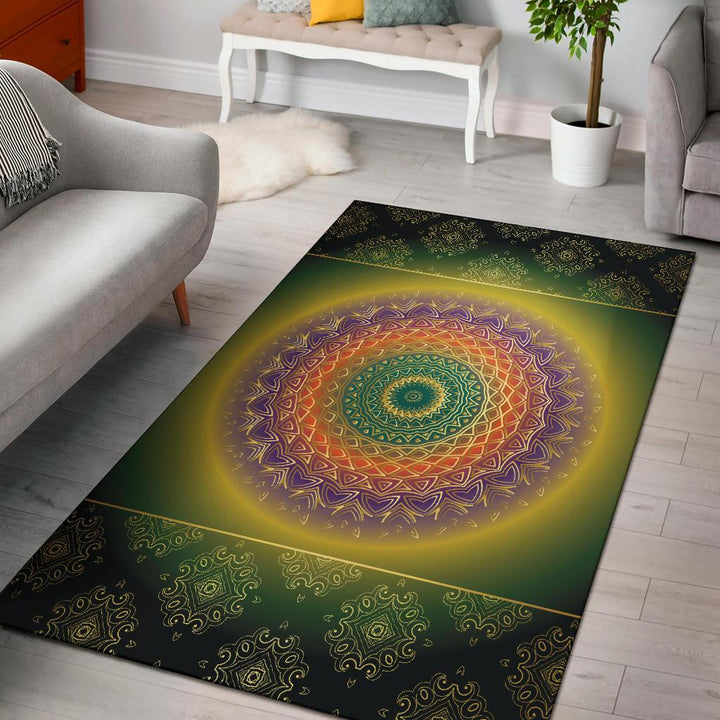 Colorful Mandala Area Rug - Trancentral Shop