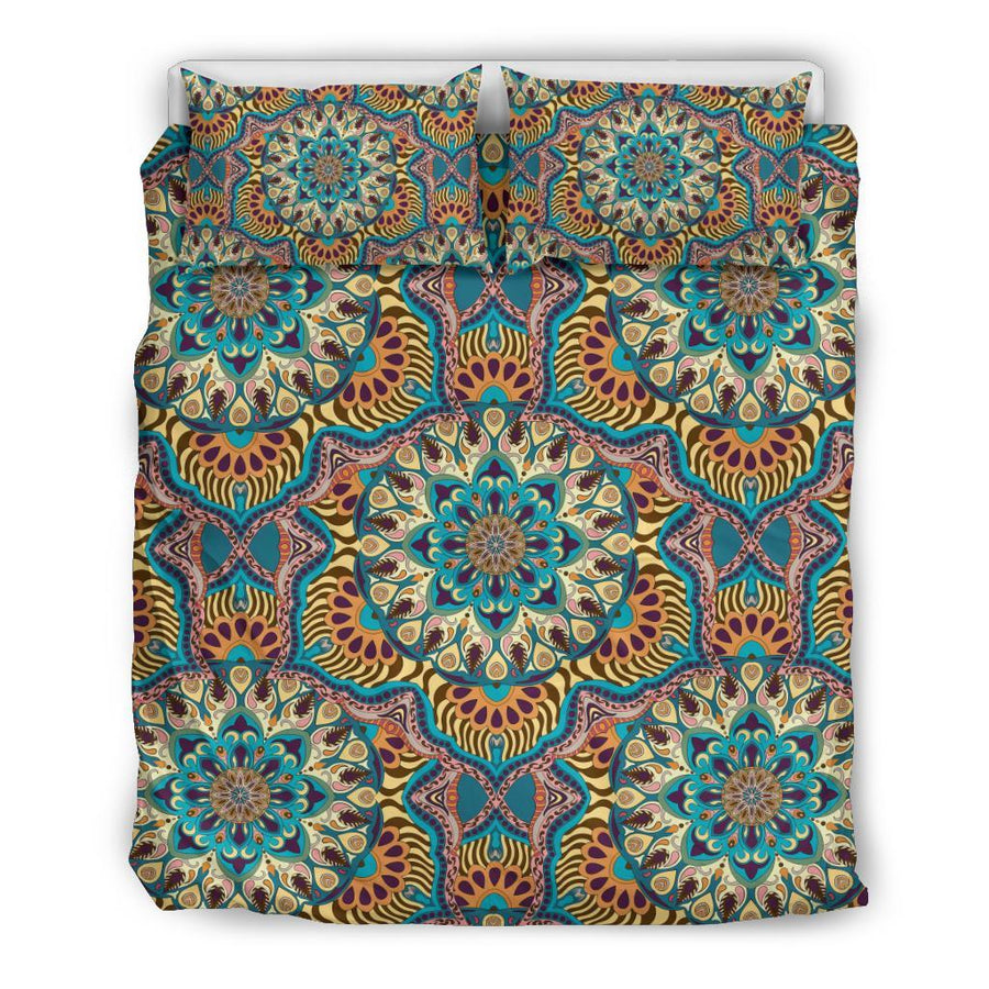 Colorful Ornamental Style Mandala Bedding Set - Trancentral Shop