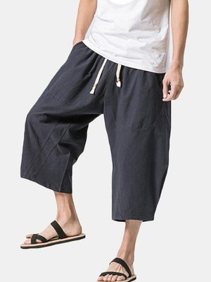 Cotton Linen Baggy Shorts - Trancentral Shop