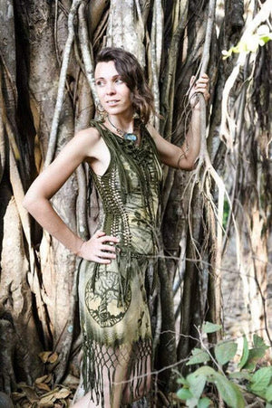 Freaky forest braided dress - Trancentral Shop