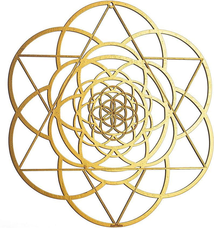 Gold Seed of Life Merkabah Wall Art - Trancentral Shop