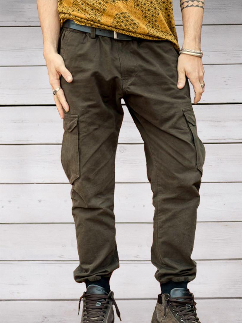 Jayant long jeans trousers - green - Trancentral Shop