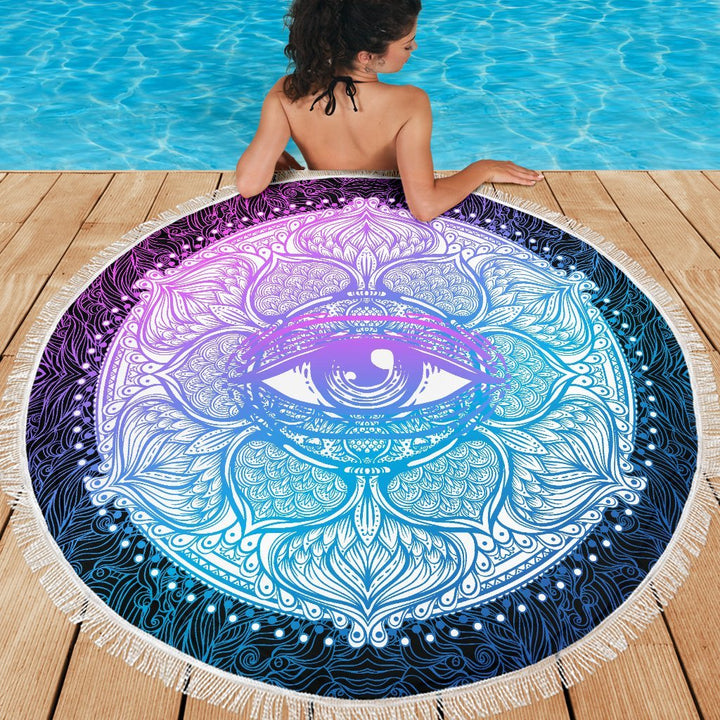 Lotus Eye Beach Blankets - Trancentral Shop