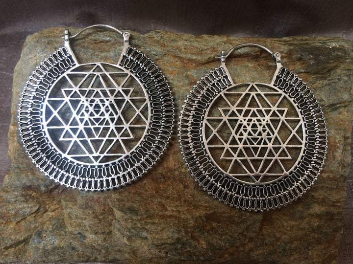 Psychedelic Mandala Tribal Earrings - Trancentral Shop
