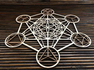 Metatron's Cube Wooden Wall Art - Trancentral Shop