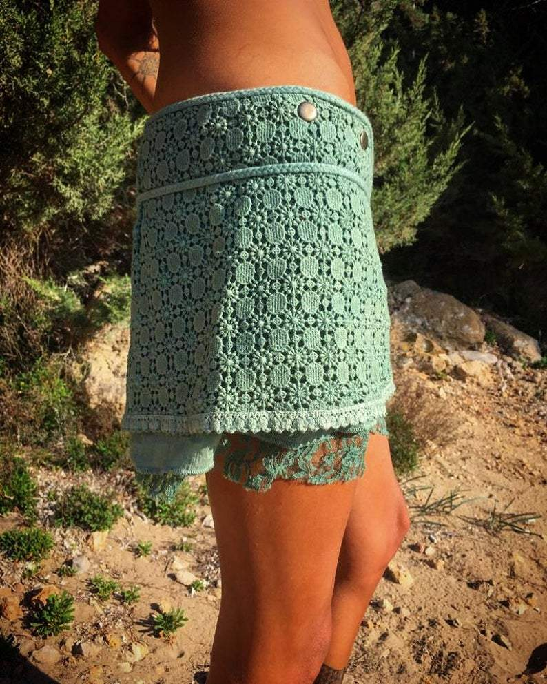 Mini Crochet Lace Skirt - Trancentral Shop
