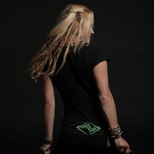 MUSIC DEMON – women UV reactive t-shirt - Trancentral Shop