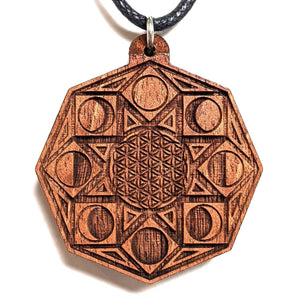 Phases of Consciousness Hardwood Pendant - Trancentral Shop