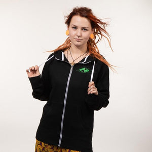 POLARITY – UV reactive / Glow in the Dark hoodie - Trancentral Shop