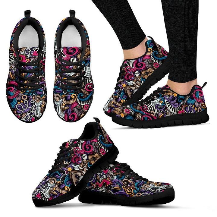 Psychedelia Women's Sneakers - Trancentral Shop
