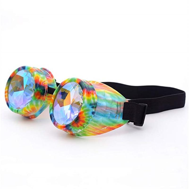 Retro Steampunk Kaleidoscope Glasses - Trancentral Shop