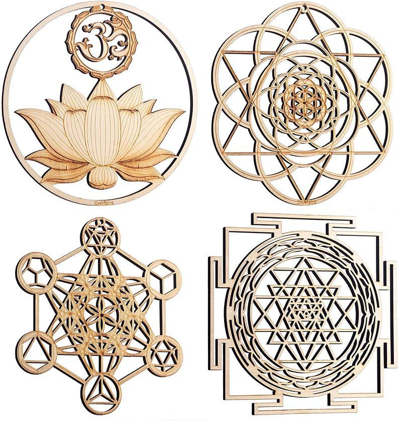 Sacred Geometry Set of 4 - Trancentral Shop