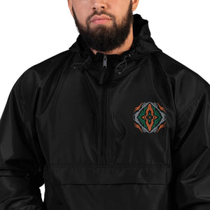 Sangoma Shaman Eye Colorful Embroidered Champion Packable Jacket - Trancentral Shop