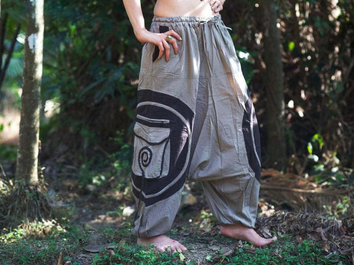 Spiral Harem Pants - Trancentral Shop