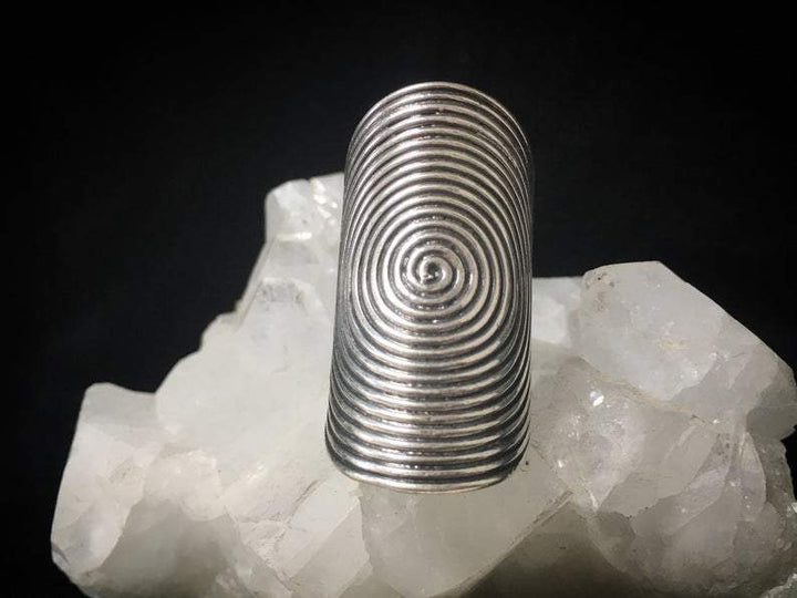 Spiral Round silver Ring - Trancentral Shop
