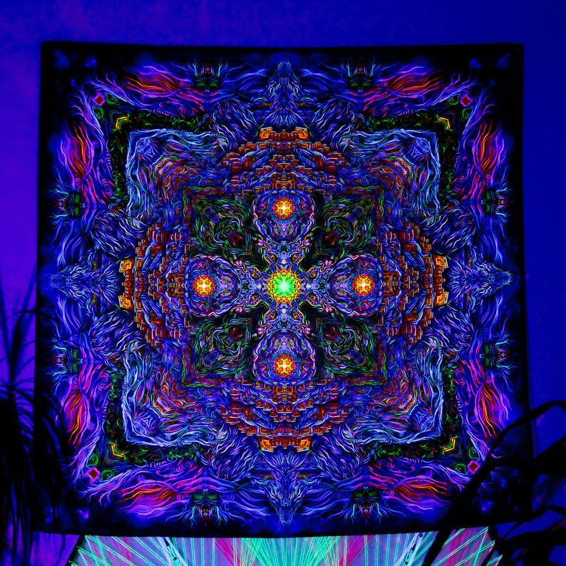 Spiritual Mandala UV backdrop - Trancentral Shop