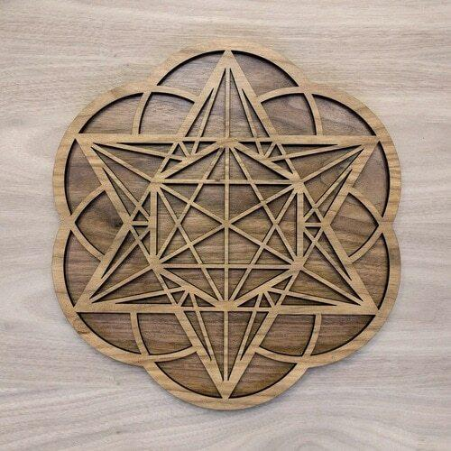 Star Tetrahedron Hexagon Seed of Life Two Layer Wall Art - Trancentral Shop