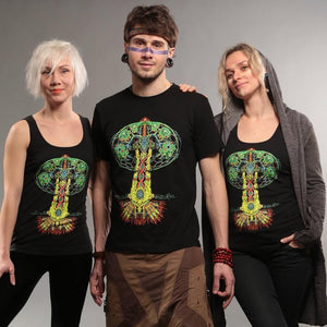 TREE OF LIFE – UV reactive top - Trancentral Shop