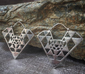 Tribal Triangle Festival Earrings - Trancentral Shop