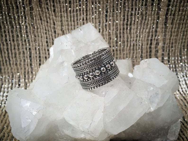 Tribal Crown Silver Ring - Trancentral Shop