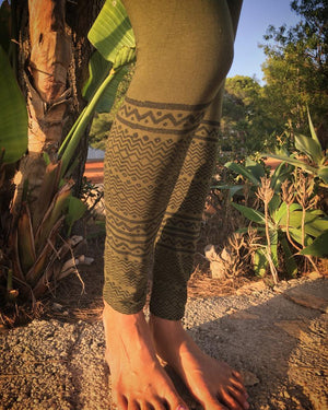 Tribal hand block print legging - Trancentral Shop