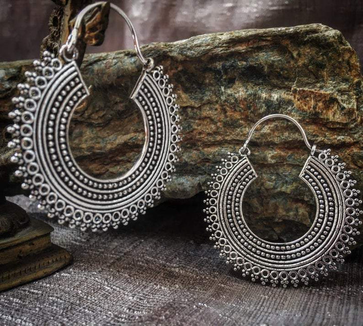 Tribal Round Earrings - Trancentral Shop