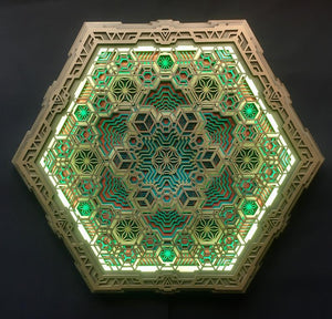 Vega Wall Art Sacred Geometry Led Lamp - Trancentral Shop