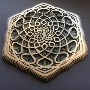 Vidya Wall Art Sacred Geometry Mandala - Trancentral Shop