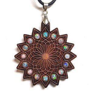 Wandering Lotus Gemstone Grid Talisman - x16 3mm Opals - Trancentral Shop